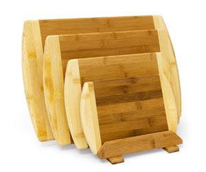 Set Taglieri da Cucina in Legno di Bambu