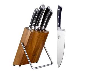 Coltelli da cucina Aicok Ceppo Legno