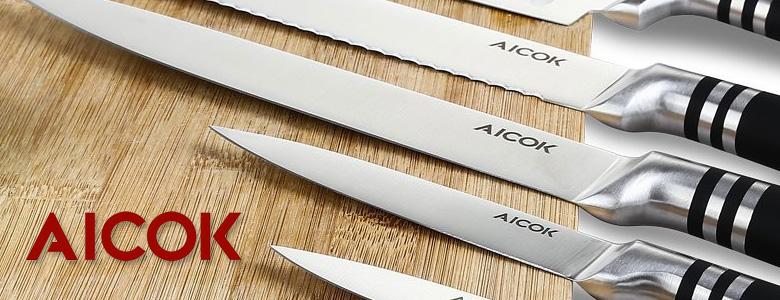 Coltelli aicok set di coltelli da cucina acciaio tedesco prezzi economici - Set di coltelli da cucina ...